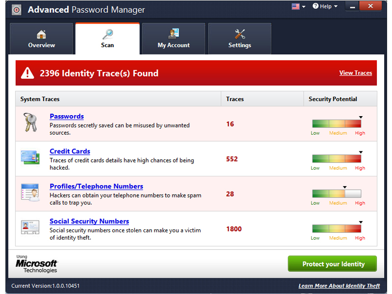 Click to view AdvancedPasswordManager 3.0 screenshot